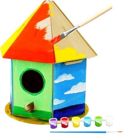 ROBOTIME Model Puzzle 3D Farby Do Malowania Karmnik